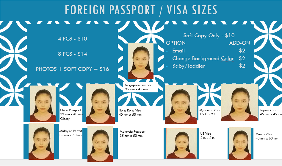 Passport and visa photos